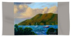 Sunset On Cruz Bay Hand Towel