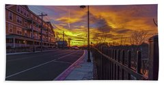 Sunset On Eliot St Milton Ma Bath Towel