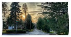 Sunset On Hilltop Drive Hand Towel