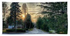 Sunset On Hilltop Drive Bath Towel