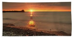 Sunset On Huron Lake Hand Towel