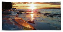 Sunset On Ice Bath Towel