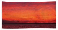 Sunset On Jersey Shore Bath Towel