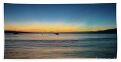 Sunset On Ka'anapali Beach Hand Towel by Kelly Wade