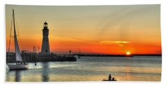 Sunset On Lake Erie Bath Towel