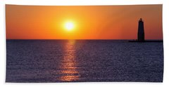 Sunset On Lake Michigan Bath Towel by Bruce Patrick Smith