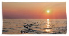 Sunset On Lake Michigan Hand Towel