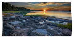 Hand Towel featuring the photograph Sunset On Littlejohn Island by Rick Berk