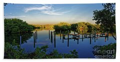 Sunset On Long Bayou Hand Towel