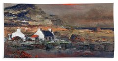 Sunset On Mount Errigal, Dunegal Bath Towel