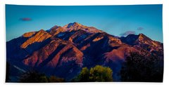 Sunset On Mount Olympus Hand Towel