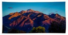 Sunset On Mount Olympus Bath Towel