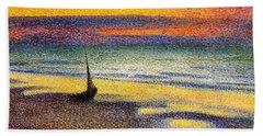 Sunset On The Beach 1891 Hand Towel