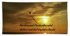 Bath Towel featuring the photograph Sunset On The Beach by Gary Wonning