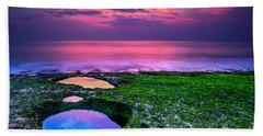 Sunset On The Beach In Bali Hand Towel