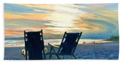 Sunset On The Beach Hand Towel