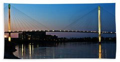 Sunset On The Bob Kerry Pedestrian Bridge Bath Towel