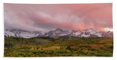 Sunset On The Dallas Divide Ridgway Colorado Hand Towel