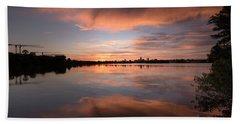 Sunset On The Lake Hand Towel