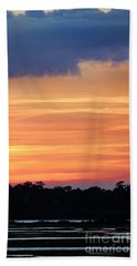 Sunset On The Marsh Bath Towel