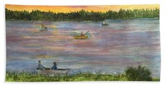 Sunset On The Merrimac River Hand Towel