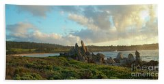 Sunset On The Pacific Ocean  Hand Towel