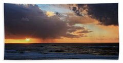 Sunset On The Pacific Bath Towel