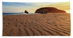Hand Towel featuring the photograph Sunset On The Sands Of Brookings by James Eddy