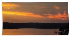 Hand Towel featuring the photograph Sunset On The Shore 2 by Don Koester
