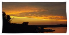 Sunset On The Shore  Hand Towel by Don Koester