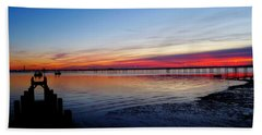 Sunset On The Shore Of Southend Bath Towel