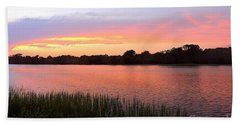 Sunset On The Waterway Bath Towel