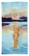 Sunset On Vancouver Island Hand Towel