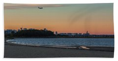 Sunset On Wollaston Beach In Quincy Massachusetts Bath Towel