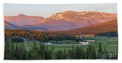Sunset On Yosemite's Meadows Hand Towel by Sharon Seaward