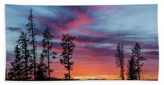 Sunset Over A Farmers Field, Cowboy Trail, Alberta, Canada Hand Towel