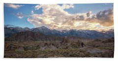 Sunset Over Alabama Hills  Hand Towel