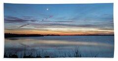 Sunset Over Back Bay Bath Towel