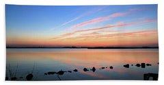 Sunset Over Back Bay National Wildlife Refuge Hand Towel