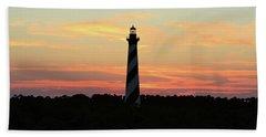 Sunset Over Cape Hatteras Light Bath Towel