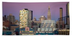 Bath Towel featuring the photograph Sunset Over Chelsea by Eduard Moldoveanu