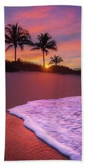 Sunset Over Coral Cove Park In Jupiter, Florida Hand Towel by Justin Kelefas