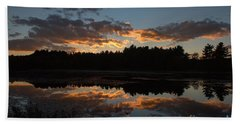 Sunset Over Cranberry Bogs Bath Towel
