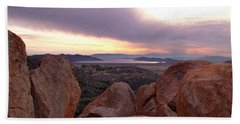 Sunset Over Diamond Valley Lake Hand Towel