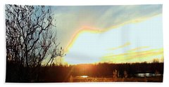 Sunset Over Fields Hand Towel