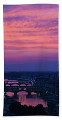 Sunset Over Florence Bath Towel
