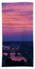 Sunset Over Florence Bath Towel