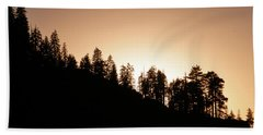 Sunset Over Glacier Point Hand Towel