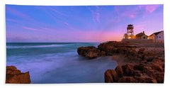 Sunset Over House Of Refuge Beach On Hutchinson Island Florida Hand Towel