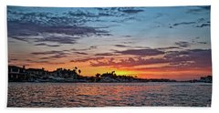 Sunset Over Huntington Harbour Hand Towel